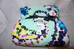 Vera Bradley Throw Blanket, Fleece, Wildflower Paisley