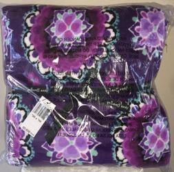 Vera Bradley XL Throw Blanket, Fleece - Lilac Medallion