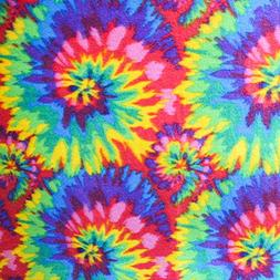 "Tie Dye Anti Pill Plaid Fleece Fabric, 60"" Inches Wide - Sol"