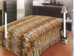 tiger skin microplush gold animal printed blanket