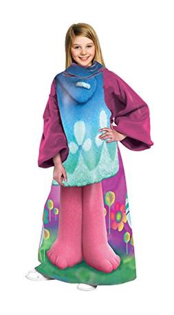 """Trolls, """"Being Poppy"""" Youth Comfy Throw Blanket with Sleeves"""