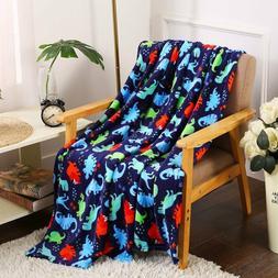 Ultra Soft & Plush Oversized Dinosaurs Throw Fleece Blanket