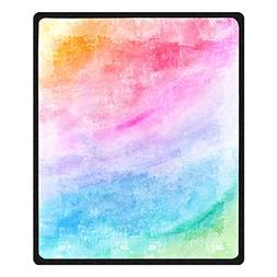 Unique Printing colorful rainbow Blanket for Children Velvet