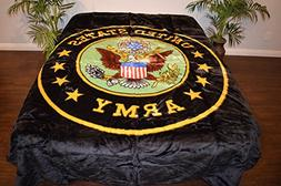 United States Army Logo Black Luxury Super Soft Medium Weigh