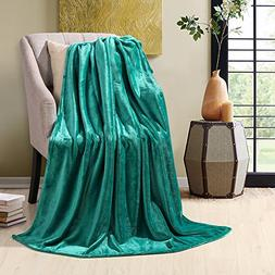 HYSEAS Velvet Throw, Light Weight Plush Luxurious Super Soft