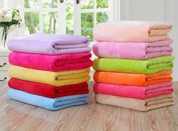 Versatile Super Soft Warm Fleece Small Throw Blanket Micropl