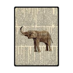 vintage dictionary page baby elephant