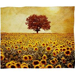 Deny Designs Viviana Gonzalez Lone Tree And Sunflowers Field