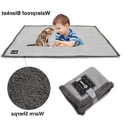 Waterproof Dog Blanket,Premium Pet Puppy Cat Soft Fleece She