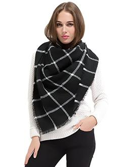 Dimore Women Thick Warm Blanket Fringe Scarf Wrap Square Tar
