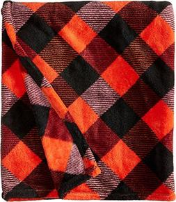 Vera Bradley Womens Throw Blanket Buffalo Check Burnt Orange