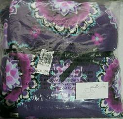 Vera Bradley XL BLANKET LILAC MEDALLION Purple Throw EXTRA L